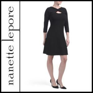 Nanette Lepore Black Sweater Dress